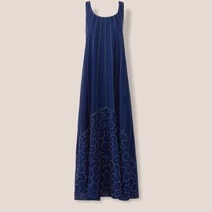 Elizabeth and James Navy denim linen oasis dress